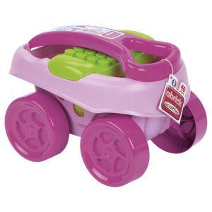 Ecoiffier Chariot de construction Maxi Abrick (40 pièces)
