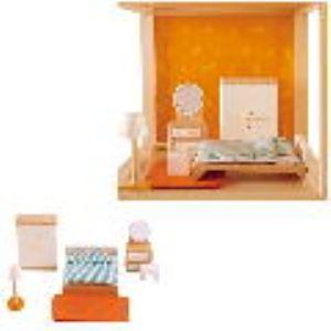 Hape Meubles de chambre des parents pour maison de poupée