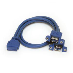StarTech.com USB3SPNLAFHD - Câble USB 3.0 2 ports monté sur panneau