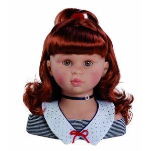Paola Reina Tête à coiffer rousse 26 cm