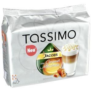 Tassimo 8 dosettes T-Discs Jacobs Caramel Macchiato