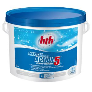 hth Chlore Maxitab 5 fonctions en galets de 200 g - 5 kg