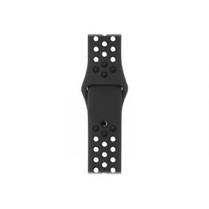 Apple MQ2K2ZM/A - Bracelet noir anthracite pour Watch 38mm Sport Band Small/Medium & Medium/Large