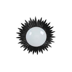Tosel Sunny - Plafonnier en verre et métal design feuilles Ø45 cm