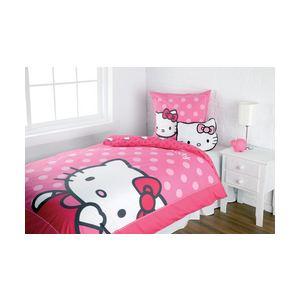 Cti Hello Kitty Eva Pink - Housse de couette et taie (140 x 200 cm)