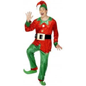 Smiffy's Déguisement lutin homme Noël (taille M ou L)