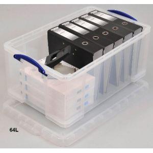 Really useful box Boîte de rangement rigide en plastique (64 L)
