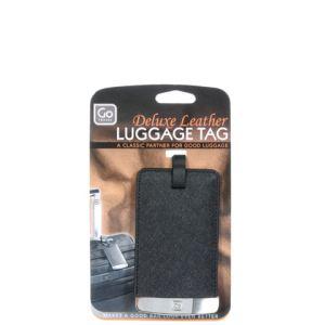 Go Travel DSG157 - Porte-étiquette de luxe en cuir pour bagages