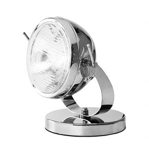 Kare Design Headlight - Lampe de bureau design phare de voiture chromée