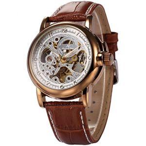 Kronen & Söhne KS037 - Montre pour homme avec bracelet en cuir