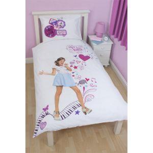 Disney Violetta Madrid - Housse de couette et taie en polycoton (135 x 200 cm)