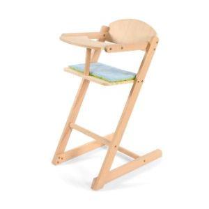 Knorrtoys Chaise haute en bois naturel pour poupon