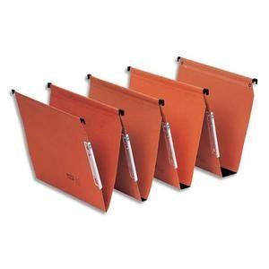 Fast Boîte de 25 dossiers suspendus pour armoire en kraft (fond : 50 mm)