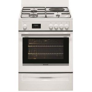 Brandt BCM6653W - Cuisinière mixte 3 foyers gaz avec four électrique