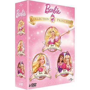 Coffret Barbie - Barbie au bal des 12 princesses + Barbie et le Palais de Diamant + Barbie et les trois mousquetaires