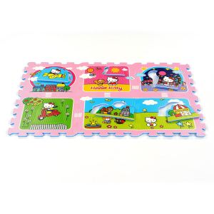 Tatamiz Tapis puzzle Hello Kitty jardin