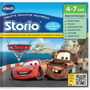 Vtech Jeu tablette Storio 2 : Cars 2