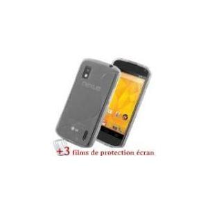 """Muzzano F66S2-97658616 - Étui """"Le S Premium' pour LG NEXUS 4 / E960 + 3 films de protection"""