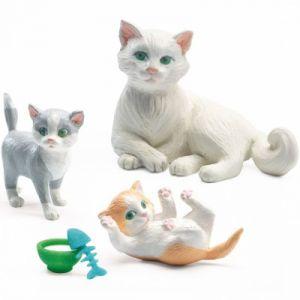 Djeco Figurines pour maison de poupées : Les chats