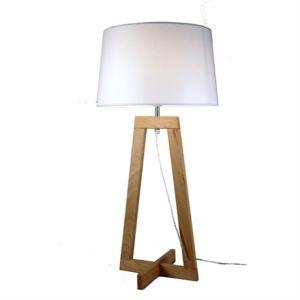 Aluminor Lampe à poser Sacha en bois 40 W