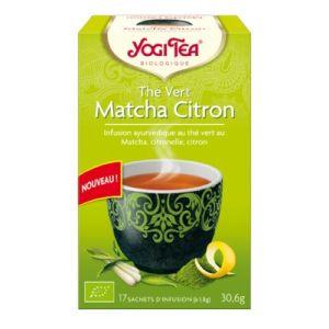 Yogi Tea Thé Vert Matcha Citron bio - Infusion, 17 sachets