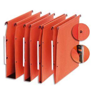 5* premier Boîte de 25 dossiers suspendus pour armoire en kraft (fond : V)