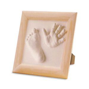 Kit moulage empreinte 3d bébé avec cadre photo