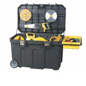 Stanley 1-93-278 - Coffre de chantier mobile 190 L de volume utile