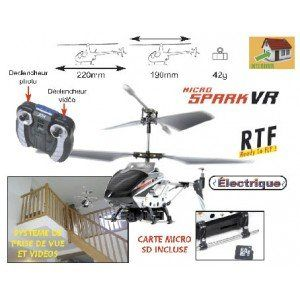 T2m T5133 - Mini hélicoptère Spark VR caméra HD