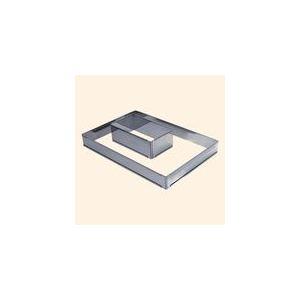 De Buyer 3014.43 - Goutière à bûche démontable à 2 embouts en inox