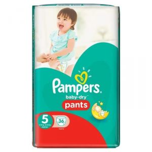 Pampers Baby-Dry Pants taille 5 Junior 12-18 kg - 36 couches