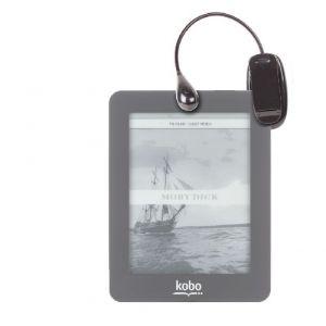 Duragadget Lampe de lecture flexible avec accroche pour liseuse Kobo Touch, GLO eBook, Mini, Sony PRS-T3, Energy Sistem Energy Color eReader C4 Touch