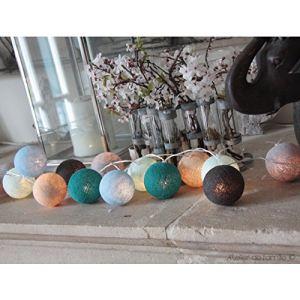 Guir 11 guirlande lumineuse d 39 int rieur boule en coton for Guirlande interieur