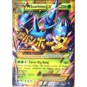 Asmodée M Scarhino Ex - Carte Pokémon Méga 112/111 Holo Rare Xy Poings Furieux