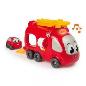 Smoby Vroom Planet Camion pompier électrique + 1 mini-bolide