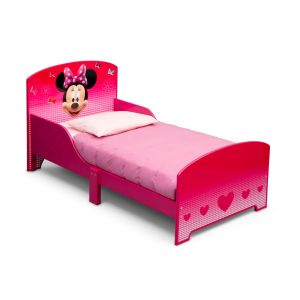 Delta Children Lit en bois pour fille Minnie Mouse (140 x 70 cm)