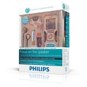 Philips LFH0884 - Dictaphone Voice Tracer MP3 8Go avec microphone zoom intégré
