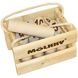 Tactic Mölkky origine dans une caisse en bois (big size)