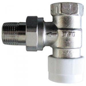 Oventrop 1183766 - Corps de robinet équerre 20x27 DN 20 série AV6 à préréglage raccordement fileté M30x1.5 capuchon de protection blanc