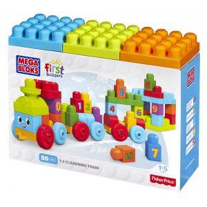 Mega Bloks DKX60 - First Builders 1-2-3 : Le train d'apprentissage