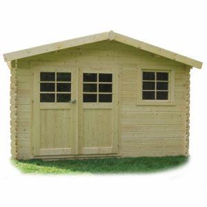 Solid S8275 - Abri de jardin Chimay en bois 28 mm 9,18 m2