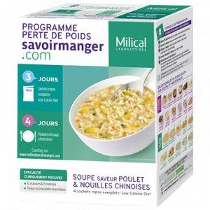 Milical Soupe saveur poulet & nouilles chinoises - 4 sachets