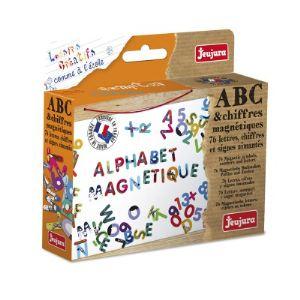 Jeujura Coffret de lettres ABC et chiffres magnétiques