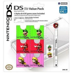 Nobilis Value Pack Mario pour DS Lite : stylet et étuis de transport pour jeux DS