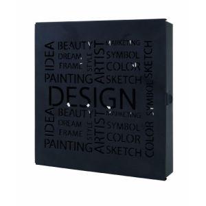 Haku Möbel Boite à clés design pop en acier ajouré (22 x 24 cm)