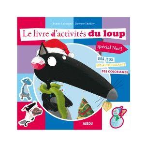 Editions Auzou Livre d'activités du Loup spécial Noël