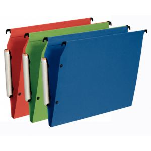 Esselte Paquet de 10 dossiers suspendus Premium opaque pour armoire (fond : 15 mm)
