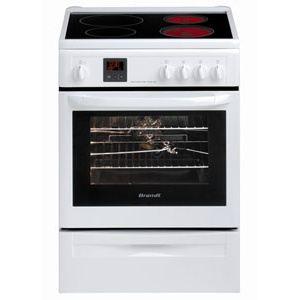 Brandt KIP713 - Cuisinière 2 foyers vitrocéramique + 2 foyers induction avec four électrique