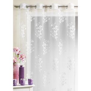Homemaison Voilage organza dévoré avec imprimés floral 150 x 260 cm