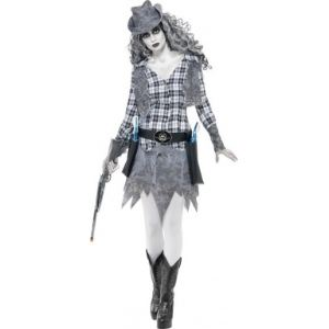 Déguisement fantôme cowgirl Halloween (taille L)